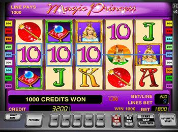 В онлайн казино автоматы Magic Princess